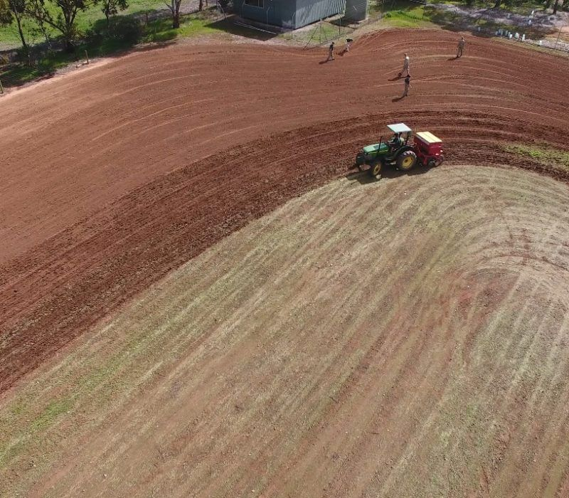Tractor Ploughing Paddock